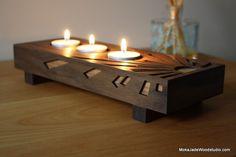 Portfolio @ MokaJade Wood Studio Tea Light Candles, Tea Lights, Tealight Candle Holders, Table, Studio, Wood, Design, Home Decor, Toys