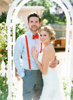 backyard wedding bride + groom // photo by Troy Grover Photographers, view more: http://ruffledblog.com/backyard-california-wedding/