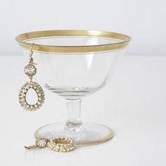La Vie Parisienne Crystal and Pearl Earrings