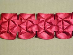 How to Make a Lovely Pleated-Ribbon Trim, by Kenneth King, via Threads.