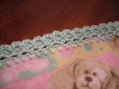 Rad Linc Crafts - fan stitch edging | perfect for fleece receiving blankets
