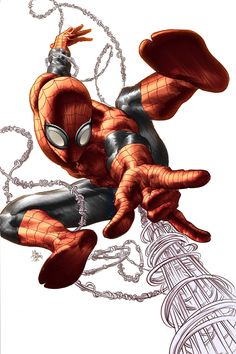 Spider-Man by Mike Deodato Jr., colours by Rain Beredo