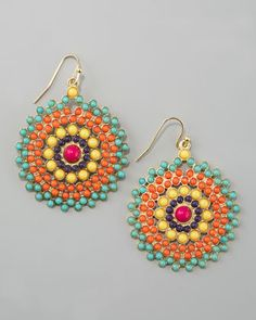 Fiesta of colors! These tribal earrings are a best seller at Cusp.