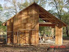 From contributor R: Here's a photo of a barn I'm currently building. I haven't put the bats on yet.