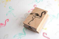 Flamingo stempel van MissHoneyBird op Etsy