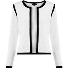 Therapy Textured jacket (7.115 HUF) ❤ liked on Polyvore featuring outerwear, jackets, coats & jackets, cream, jackets and blazer, women, cream cropped jacket, white cropped blazer, cropped jacket and cream jacket