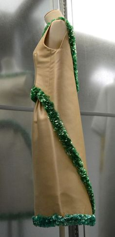Cristóbal Balenciaga Cocktail dress, 1967. What they really did with all that leftover plastic holiday garland! ;)