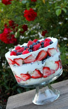 Strawberry Trifle Dessert Recipe (From Two Crafty Sisters) - yummm!