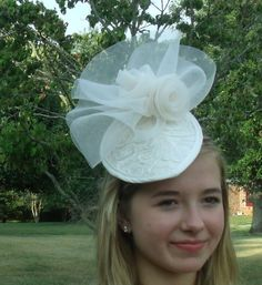 Couture  Ivory Bridal  Headpiece by OvertheTopHats on Etsy, $99.00