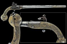 A rare Cossack's flintlock pistol, 19th century.