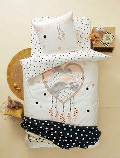 Duvet Cover + Pillowcase Set, Heart Dreamcatcher Theme - Graphic print - 1