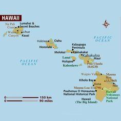 Which Hawaiian Island Should You Visit?: Map of the Hawaiian Islands