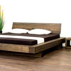 Bed Headboard Design, Bedroom Bed Design, Bedroom Furniture Design, Bedroom Sets, Home Bedroom, Wood Bed Design, Bed Frame Design, Simple Bed Designs, Solid Wood Platform Bed