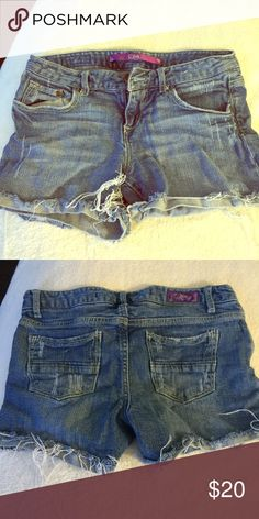 Blue denim shorts Awesome denim shorts kinda short but really cute and in great condition Shorts Jean Shorts