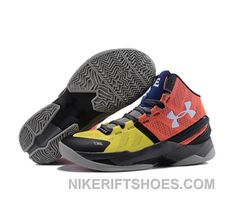 0cd37287652 Under Armour Stephen Curry 2 Shoes Red Yellow Discount 5HhyP
