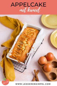 Appelcake - makkelijk bakrecept - Lekker en Simpel