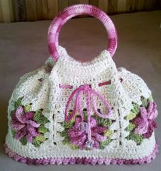 Free Crochet Bag, Crochet Tote, Crochet Shoes, Crochet Handbags, Crochet Purses, Crochet Gifts, Crochet Stitches, Crochet Baby, Knit Crochet
