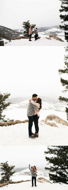 He popped the question on top of a snowy mountain, and it's so adorable!
