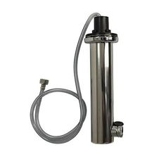 Polished Stainless Steel 2.5 Inch Draft Tower - Single Faucet