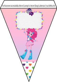Kit Equestria Girls ( My Little Pony ) Festa Do My Little Pony, Mlp My Little Pony, Equestria Girls, Barbie Party, Girl Birthday, Blog, Sim, Printables, Pony Party