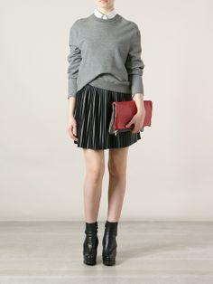 Women - Steve Mono 'Adele' Leather Foldover Clutch - WOK STORE