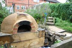 The Finished Clay Oven in My Garden