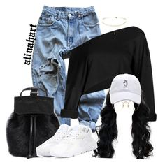 """$"" by alinahartikainen ❤ liked on Polyvore featuring Levi's, NIKE and Ray-Ban"
