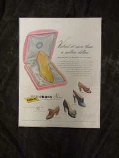 Vintage 1940's Women's Shoes Advertisement by Retrolane91 on Etsy, $6.00