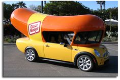 Take a ride in the weinermobile.