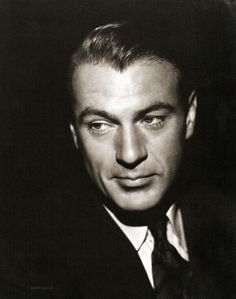 Gary Cooper - what a handsome man & he was tall, too. Unlike most male film stars of his time. Just dreamy.