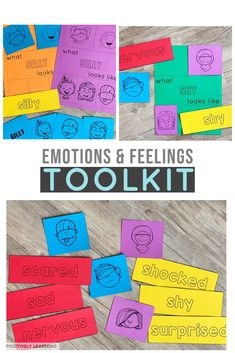 Identifying Feelings and emotions is an effective tool I have used as students spent time in the resource room classroom. The goal was to help young K-2 students self-advocate when they needed to take a break inside the classroom (i.e.: calming corner or chill zone) and take the next step in understanding and communicating their feelings with the support of these visuals.