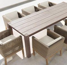 "108"" Parsons Dining Table. $2955. grayish teak"