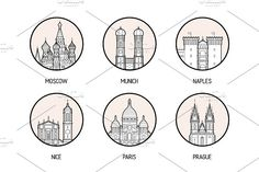 Icons of 30 European cities ~ Illustrations ~ Creative Market City Icon, Insta Icon, City Illustration, Instagram Highlight Icons, Instagram Story, Instagram Ideas, Vector Pattern, Recipes, Destinations