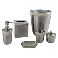 bathroom accessory sets brushed nickel