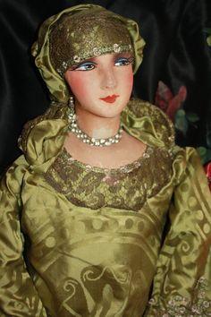 French Harem Silk Faced Boudoir Doll