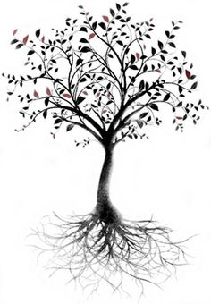 Image result for tree with roots tattoo pretty
