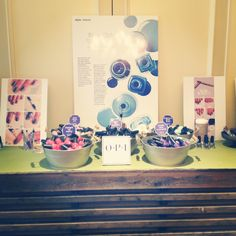 We loved our DIY Nail Bar, complete with @OPI Nail polish and @The Beauty Department manicure embellishment ideas!