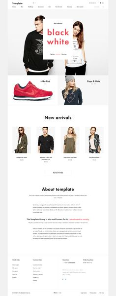 Shop Template free PSD on Behance