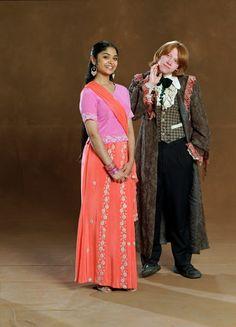 Afshan Azad as Padma Patil and Rupert Grint as Ron Weasley (GoF-promo-01).jpg