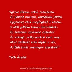 Szerelmes vers Tóth Árpád