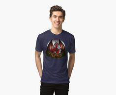 Camiseta de tejido mixto de Varbbo #shirt #moda #shop #redbubble #fantasy #art #rol #diablesa