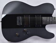 ESP LTD Deluxe TE-1000 Electric Guitar in Satin Black