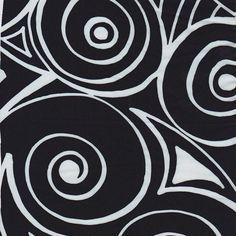 Italian Designer Silk in Black/Aqua