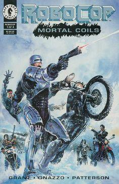 RoboCop vs Biker Gang - Dark Horse Comic Art by Ray Largo