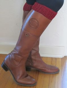 A Peek of Cozy: Boot Cuff Pattern