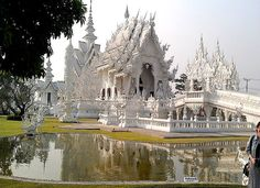 The White Temple in Chiang Rai, Thailand...