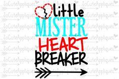 Little Mister Heart Breaker  By SoCuteAppliques