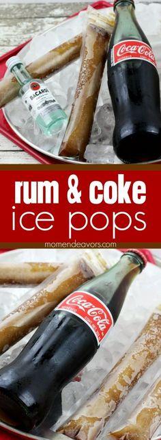 rum & coke ice pops recipe