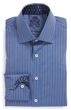 English Laundry Trim Fit Stripe Dress Shirt available at #Nordstrom