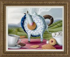 High Tea Hee Haw, by Peter Smith #art #Impossimal